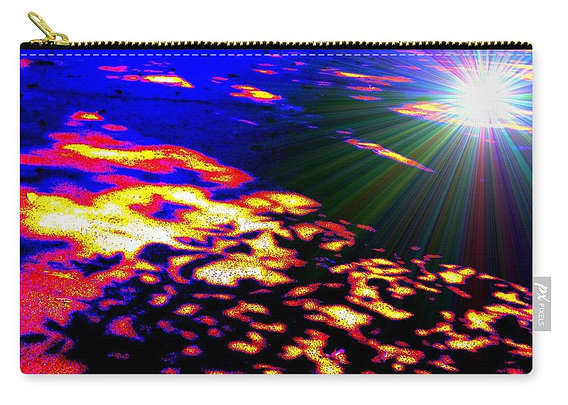 Abstract Carry-all Pouch featuring the painting Cosmic Flare by Renate Nadi Wesley