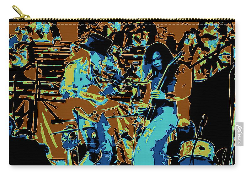 Johnny Winter Carry-all Pouch featuring the photograph Cosmic Winter Blues 1975 by Ben Upham