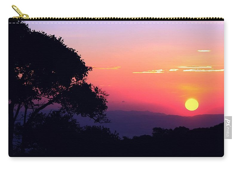Sunset Carry-all Pouch featuring the photograph Costa Rica Sunset by Myrna Bradshaw