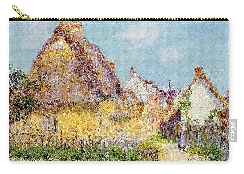 Cottage At Le Vaudreuil Carry-all Pouch featuring the painting Cottage At Le Vaudreuil by Gustave Loiseau