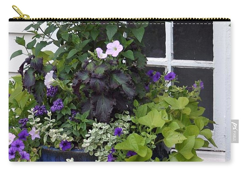 Window Carry-all Pouch featuring the photograph Cottage Window by Living Color Photography Lorraine Lynch