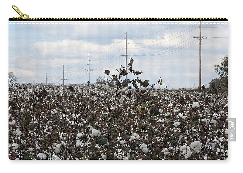 Cotton Carry-all Pouch featuring the photograph Cotton Ready For Harvest In Alabama by Kathy Clark
