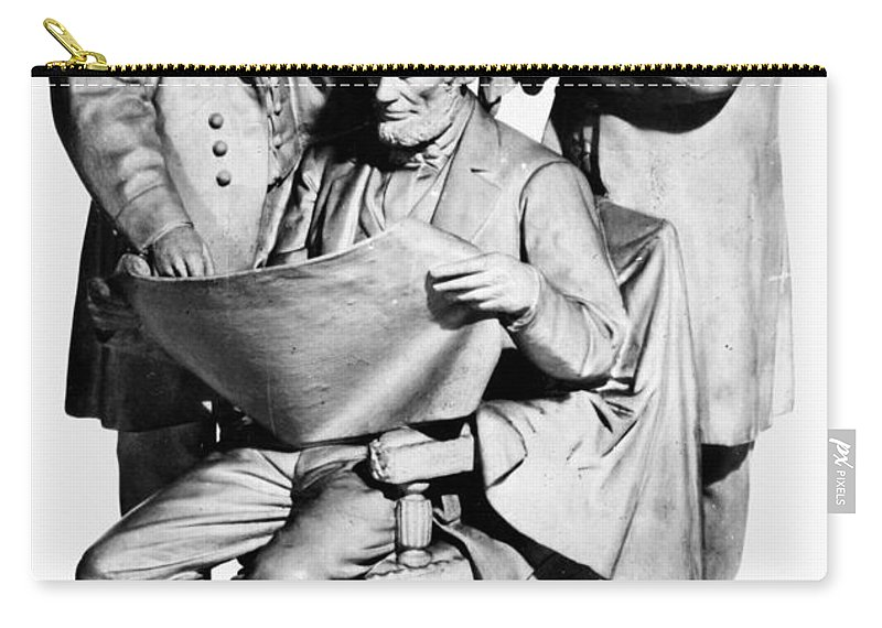1868 Carry-all Pouch featuring the photograph Council Of War by Granger