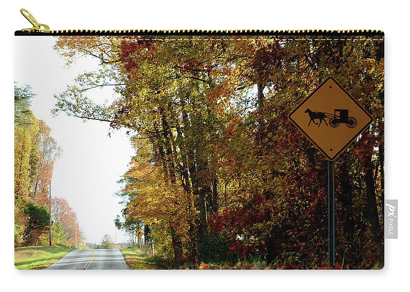 Country Carry-all Pouch featuring the photograph Country Buggie Sign by La Dolce Vita