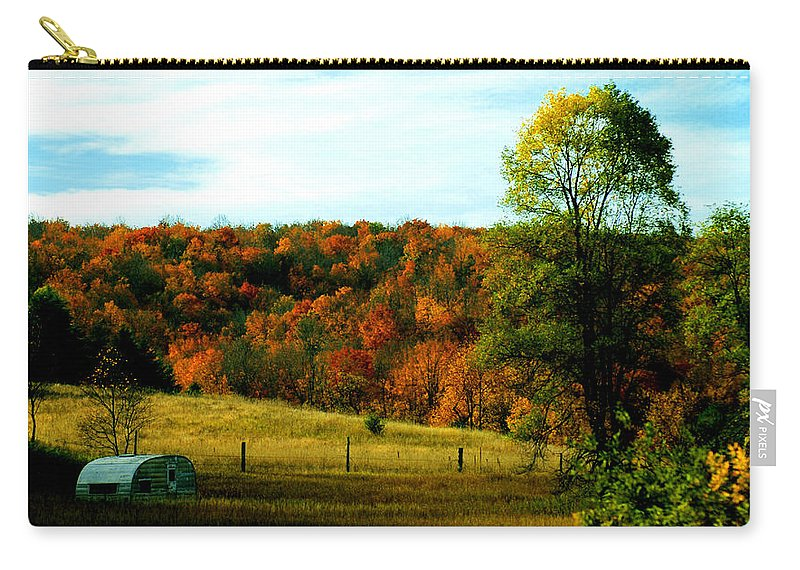 Optical Playground By Mp Ray Carry-all Pouch featuring the photograph Country Camping by Optical Playground By MP Ray