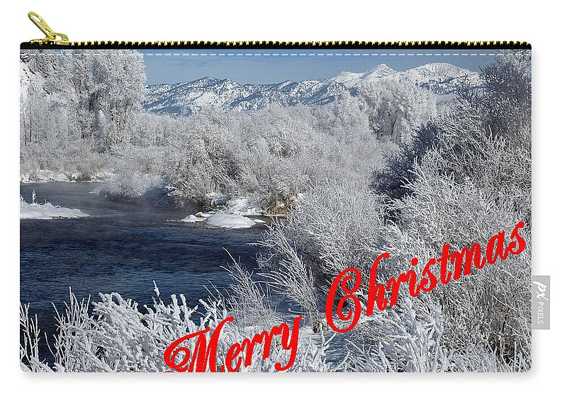 Christmas Carry-all Pouch featuring the photograph Country Christmas 2 by DeeLon Merritt