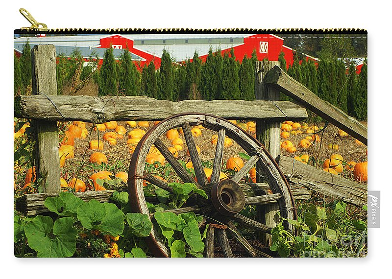 Fences Carry-all Pouch featuring the photograph Country Fence by Randy Harris