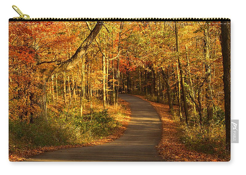 Country Road Carry-all Pouch featuring the photograph Country Road by Cathy Smith