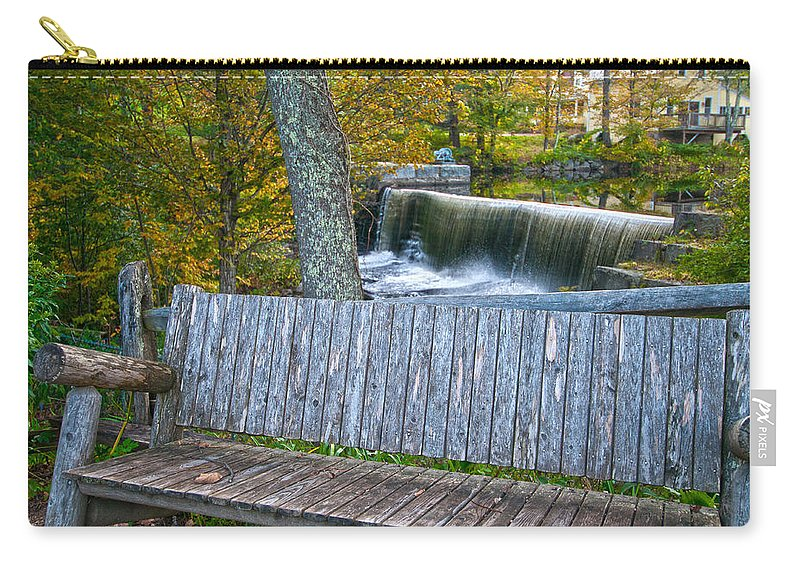 water Falls Carry-all Pouch featuring the photograph Country Setting by Paul Mangold