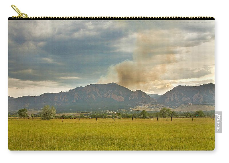 Flagstaff Fire Carry-all Pouch featuring the photograph Country View Of The Flagstaff Fire by James BO Insogna