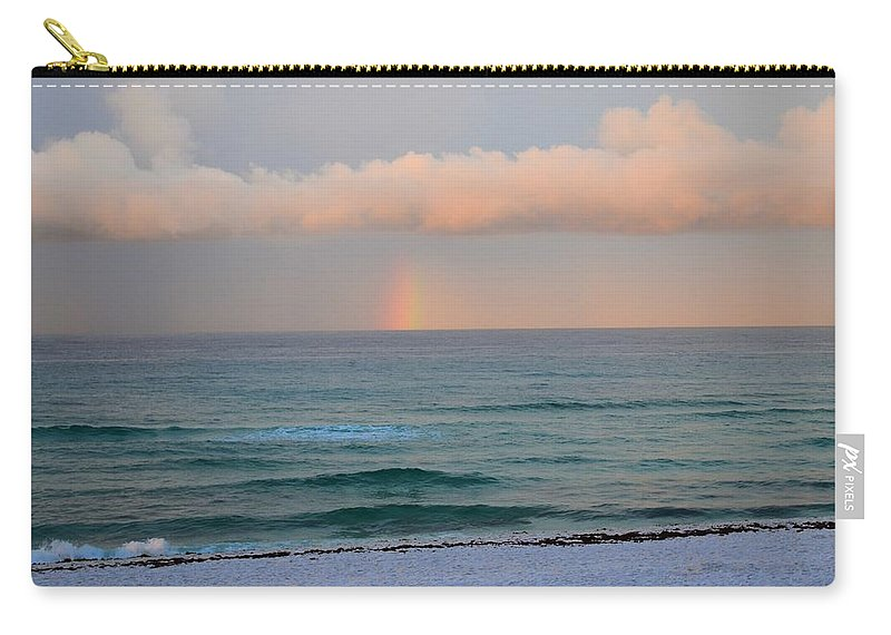 Rainbow Carry-all Pouch featuring the photograph Covenant Beach by David Morefield