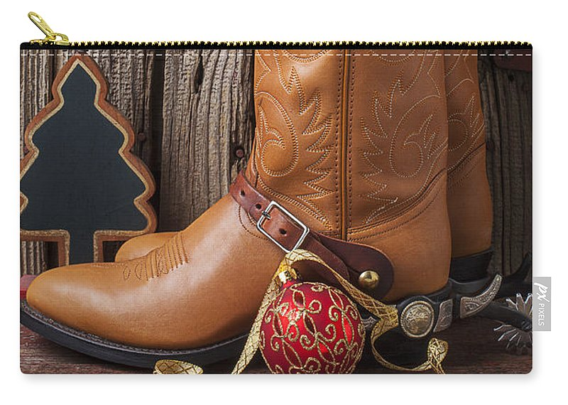 7ca58dde65f Cowboy Boots And Christmas Ornaments Carry-all Pouch