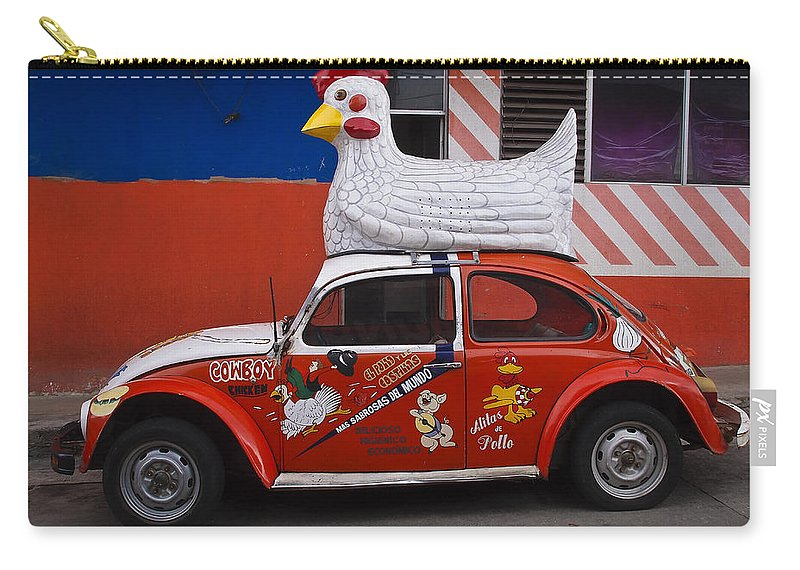 Cowboy Chicken Carry-all Pouch featuring the photograph Cowboy Chicken by Skip Hunt