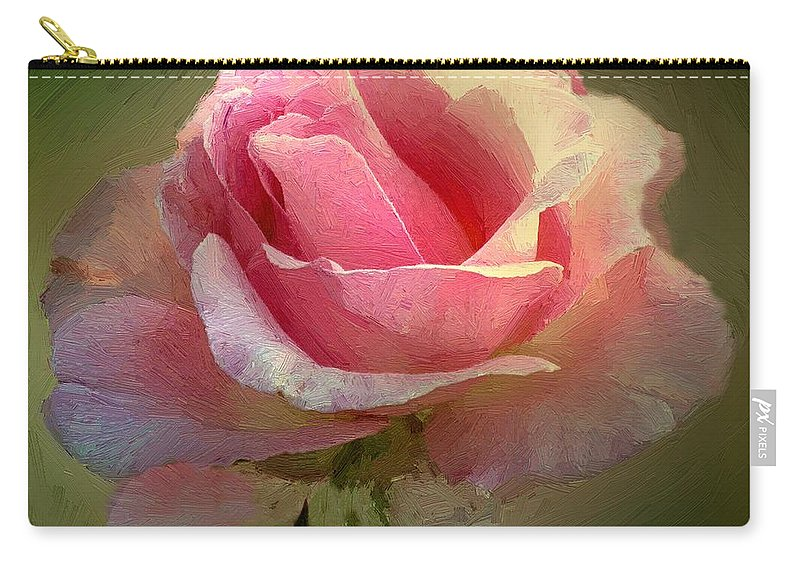 Rose Carry-all Pouch featuring the painting Coy Blush by RC DeWinter