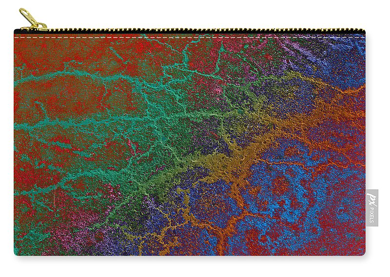 Ashphalt Carry-all Pouch featuring the photograph Cracks by David Pantuso