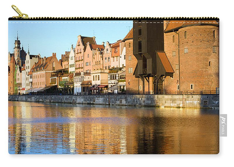 Apartment Carry-all Pouch featuring the photograph Crane In The Old Town Of Gdansk by Artur Bogacki