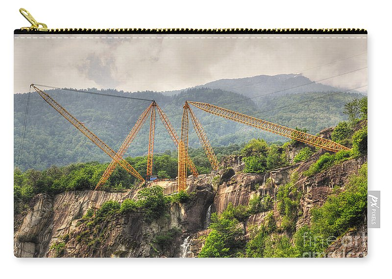Crane Carry-all Pouch featuring the photograph Crane On The Mountain by Mats Silvan