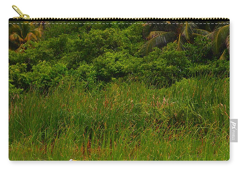 Crane Carry-all Pouch featuring the photograph Crane by Skip Hunt