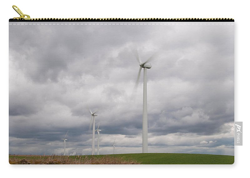 Clouds Carry-all Pouch featuring the photograph Crankin' by Guy Whiteley