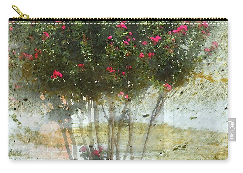 Nature Carry-all Pouch featuring the digital art Crape Myrtle by Debbie Portwood