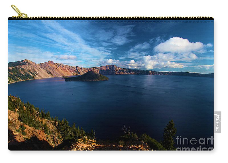 Crater Lake National Park Carry-all Pouch featuring the photograph Crater Lake Minus Trees by Adam Jewell