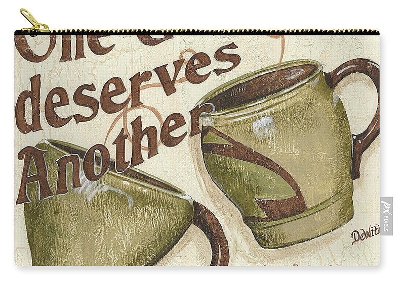 Coffee Carry-all Pouch featuring the painting Cream Coffee 2 by Debbie DeWitt