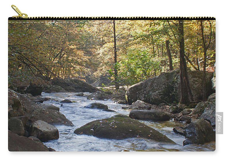 Creek Carry-all Pouch featuring the photograph Creek by David Troxel