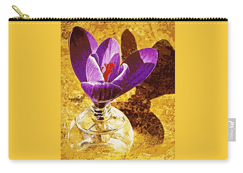 Nature Carry-all Pouch featuring the photograph Crocus Graphic by Chris Berry