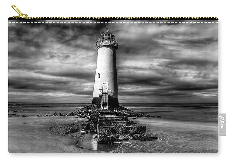 Lighthouse Carry-all Pouch featuring the photograph Crooked Lighthouse by Adrian Evans