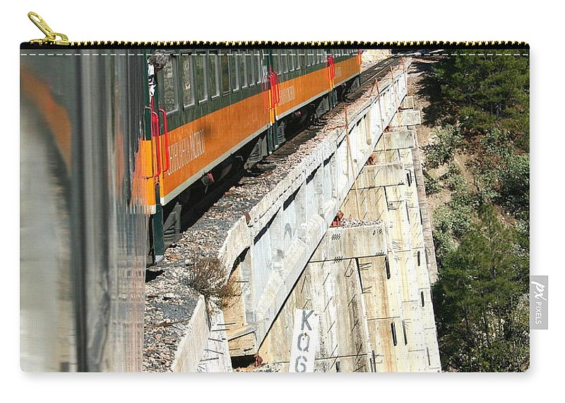 Digital Photograph Carry-all Pouch featuring the photograph Crossing The Gorge by Laurel Talabere