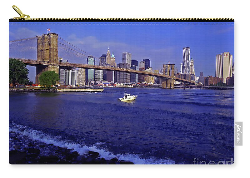 Hudson River Carry-all Pouch featuring the photograph Crossing The Hudson by Kendall Eutemey