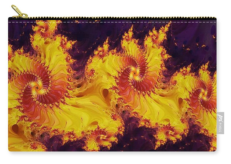 Fractal Carry-all Pouch featuring the digital art Crown Of The Potentate by Richard Kelly