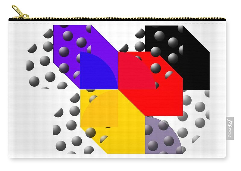 Halftone Carry-all Pouch featuring the painting Cruella De Stijl by Charles Stuart