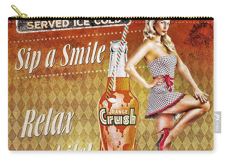 Crush Carry-all Pouch featuring the mixed media Crush by Mo T