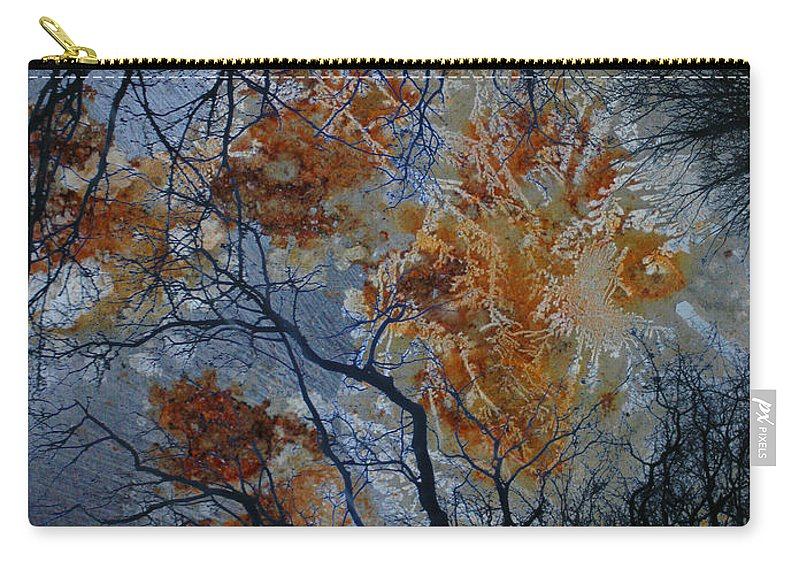Branches Carry-all Pouch featuring the photograph Crusted Criticism by The Artist Project