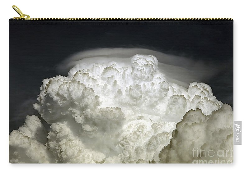Cumulus Carry-all Pouch featuring the photograph Cumulus Congestus Cloud With Pileus by Luis Argerich