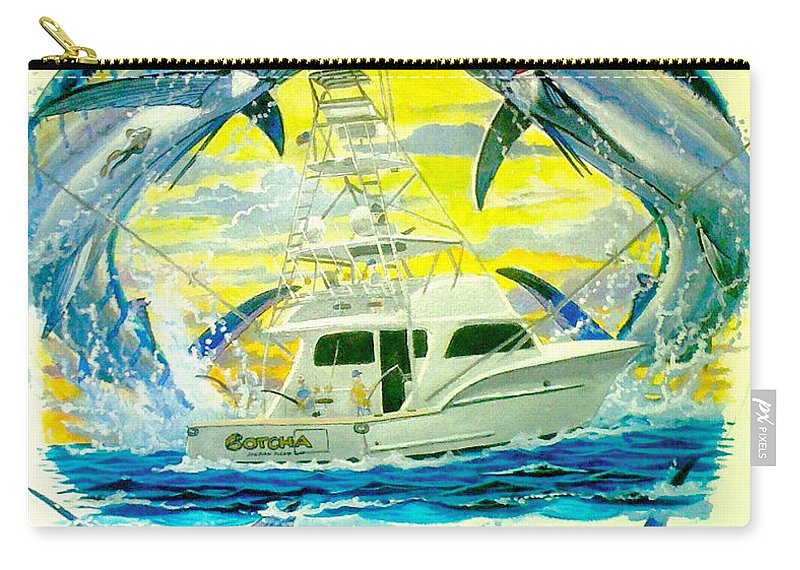 Sportfishing Boat Carry-all Pouch featuring the painting Custom Artwork by Carey Chen