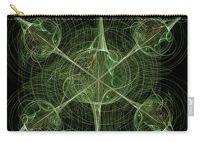 Abstract Carry-all Pouch featuring the digital art Daggers by Carolyn Marshall