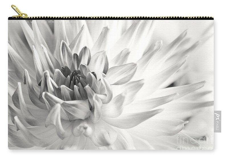 Dahlia Carry-all Pouch featuring the photograph Dahlia Flower 02 by Nailia Schwarz