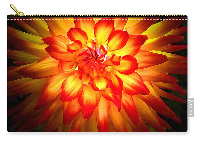 Dahlia Carry-all Pouch featuring the photograph Dahlia by Mike Nellums