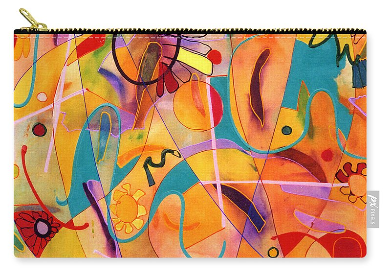 Abstract Carry-all Pouch featuring the painting Daisy May by Lynne Taetzsch