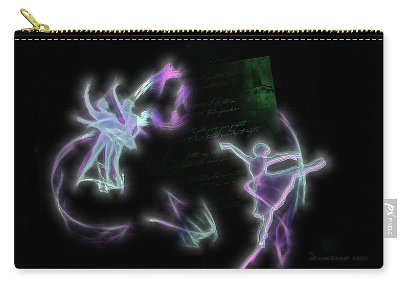 Man Carry-all Pouch featuring the digital art Dancers by Ericamaxine Price