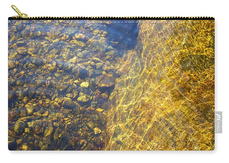 Stones Carry-all Pouch featuring the photograph Dancing Lines And Stones by Shirley Radebach