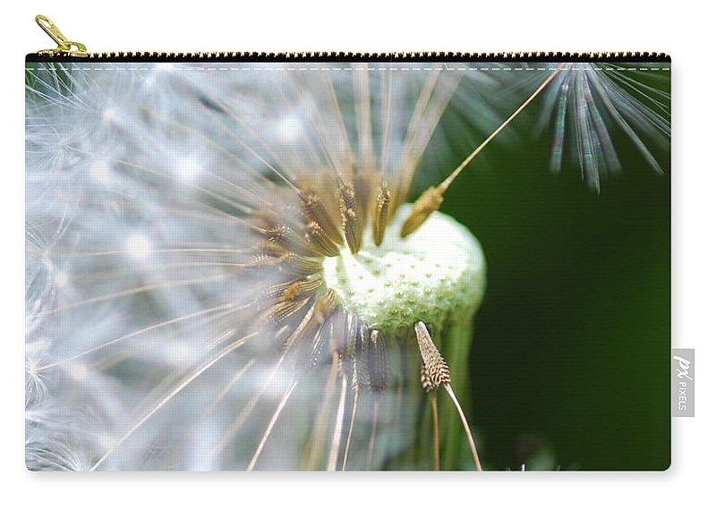 Optical Playground By Mp Ray Carry-all Pouch featuring the photograph Dandelion Seeds by Optical Playground By MP Ray