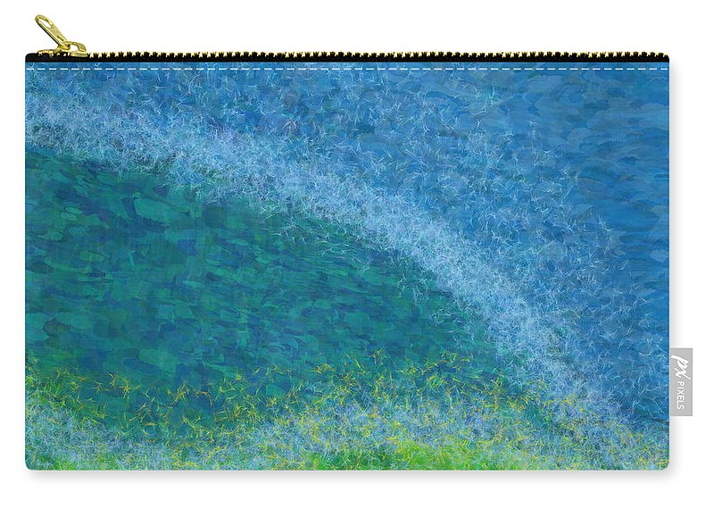 Dandelions Carry-all Pouch featuring the digital art Dandelions In The Mower Digital Painting by Robin Lewis