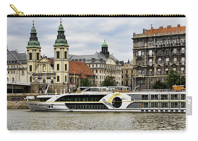 Riverboat Carry-all Pouch featuring the photograph Danube Riverboat In Budapest by Jon Berghoff