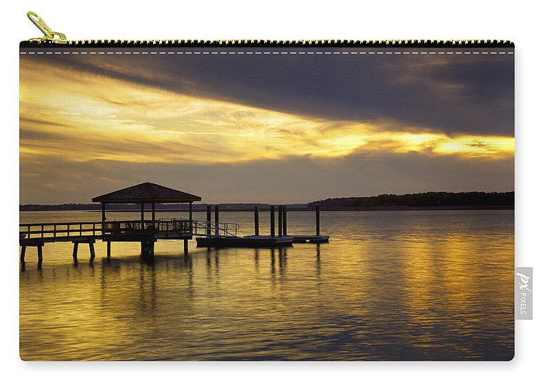 Beaufort County Carry-all Pouch featuring the photograph Dark Clouds by Phill Doherty