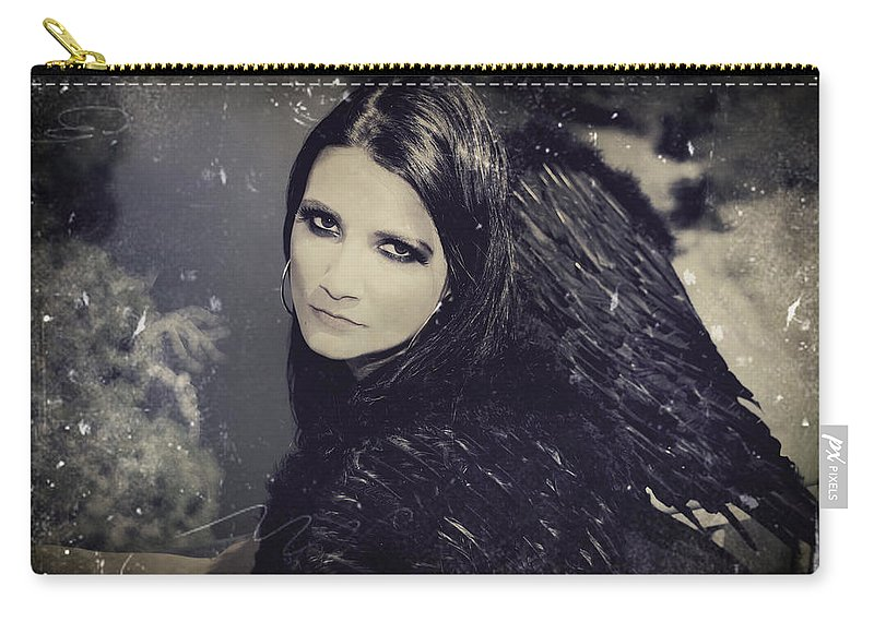 Dark Angel Carry-all Pouch featuring the photograph Dark Days by Laurie Search