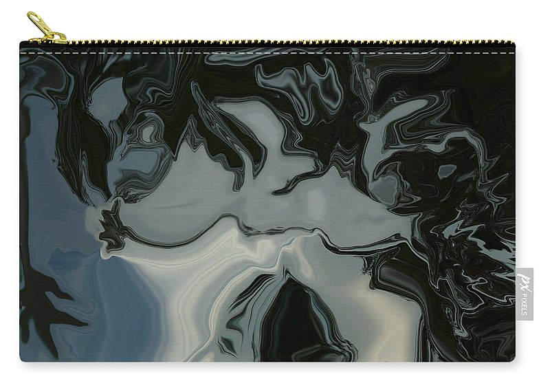 Dark Visions Carry-all Pouch featuring the digital art Dark Visions by Linda Sannuti