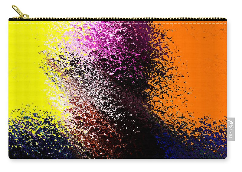 Carry-all Pouch featuring the mixed media Dark Wave by Terence Morrissey
